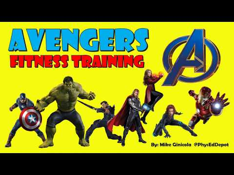 Avengers HIIT Fitness Warm up PE Distance Learning