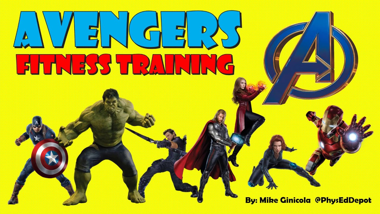 Avengers HIIT Fitness Warm up PE Distance Learning - YouTube
