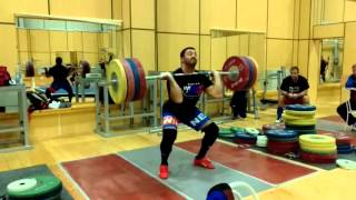 Dmitry Berestov Power Clean + Push Press 190KG Chekhov 10/2015