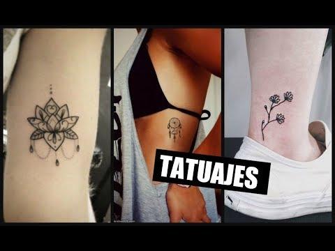 Tatuajes Sencillos Y Bonitos Para Mujer Youtube