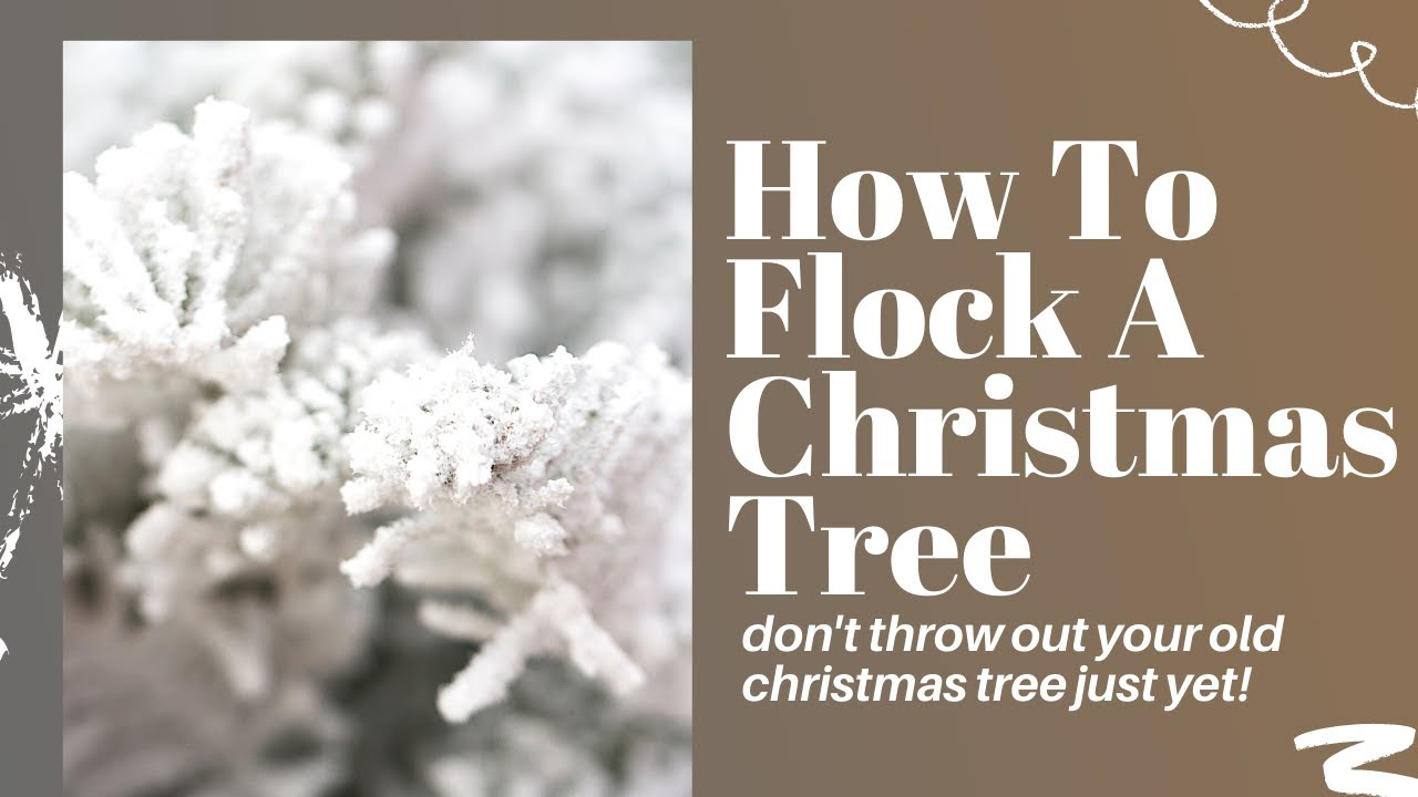 How to flock a christmas tree by oheverythinghandmade youtube solutioingenieria