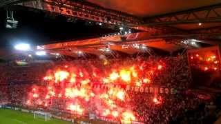 Racowisko przed meczem Legia - Steaua