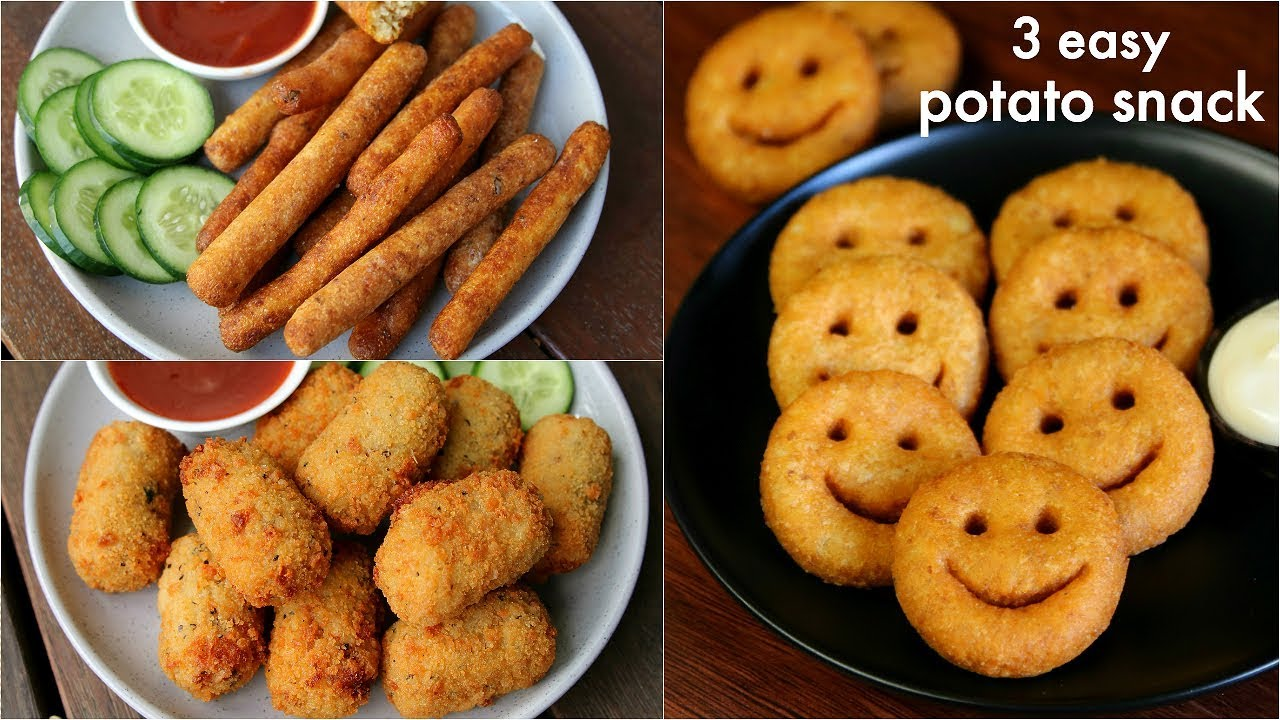 3 easy potato snacks recipe for kids