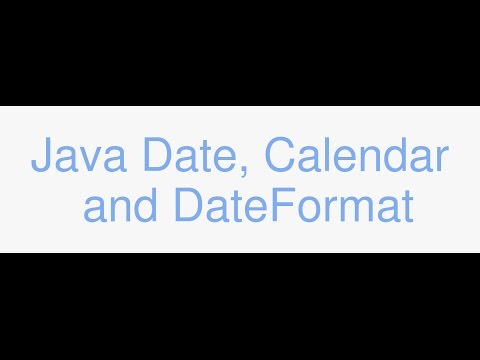 Java Date, Calendar, Timezones, and DateFormat tutorial