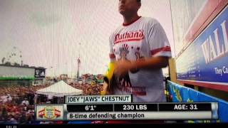 joey chestnut wife