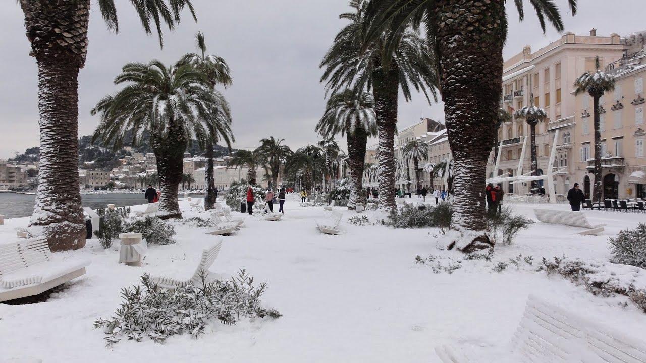 Split, Grad pod Snijegom - 3.2.2012. - HD - YouTube