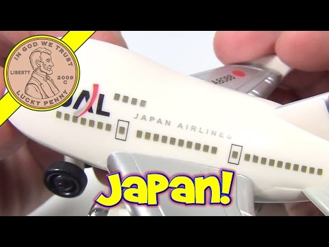 JAL Japan Airlines Pull Back Toy Set - Airplane, Bus, Stair Truck