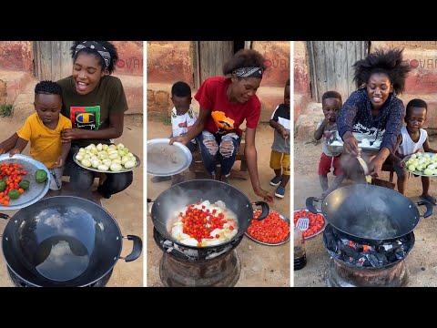 "Nigerian Woman Cooks while Speaking Chinese Language "" goes Viral"