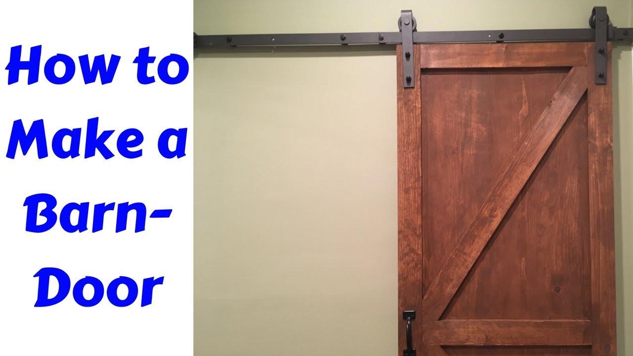 Barn Door For Beginners How Todiy Youtube