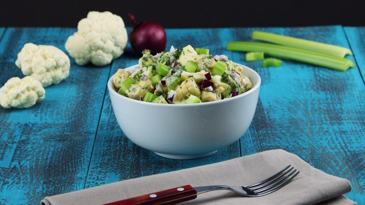 recette salade de chou fleur pour un repas l ger mais complet youtube. Black Bedroom Furniture Sets. Home Design Ideas
