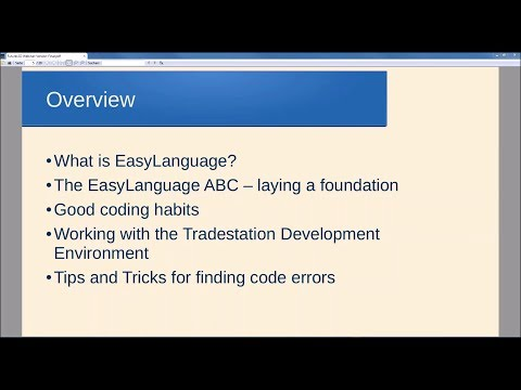 EasyLanguage ABC's: Mastering TradeStation Programming w/Chris Kaiser