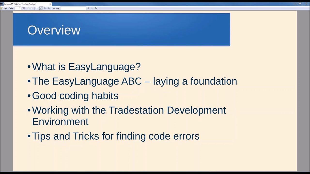 EasyLanguage ABC's: Mastering TradeStation Programming w/Chris Kaiser