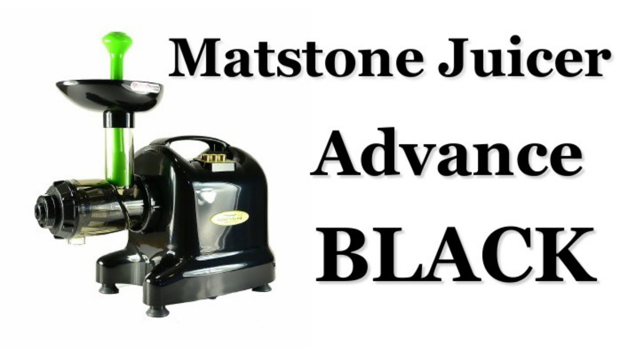 Matstone Masticating Juicer Reviews : A Matstone 6 in 1 Juicer Advance in Black Review - YouTube