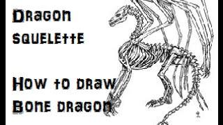 [TUTO] Dessiner un dragon squelette ! How to draw a bone dragon