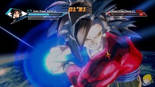 Dragon Ball Xenoverse (PS4) : SSJ4 Goku Vs SSJ4 Vegeta【60FPS 1080P】