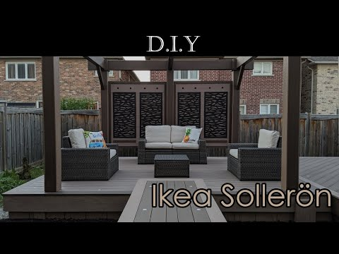 DIY Deck (Part 14): Ikea Sollerön review, assembly and how to protect it from rain and snow?