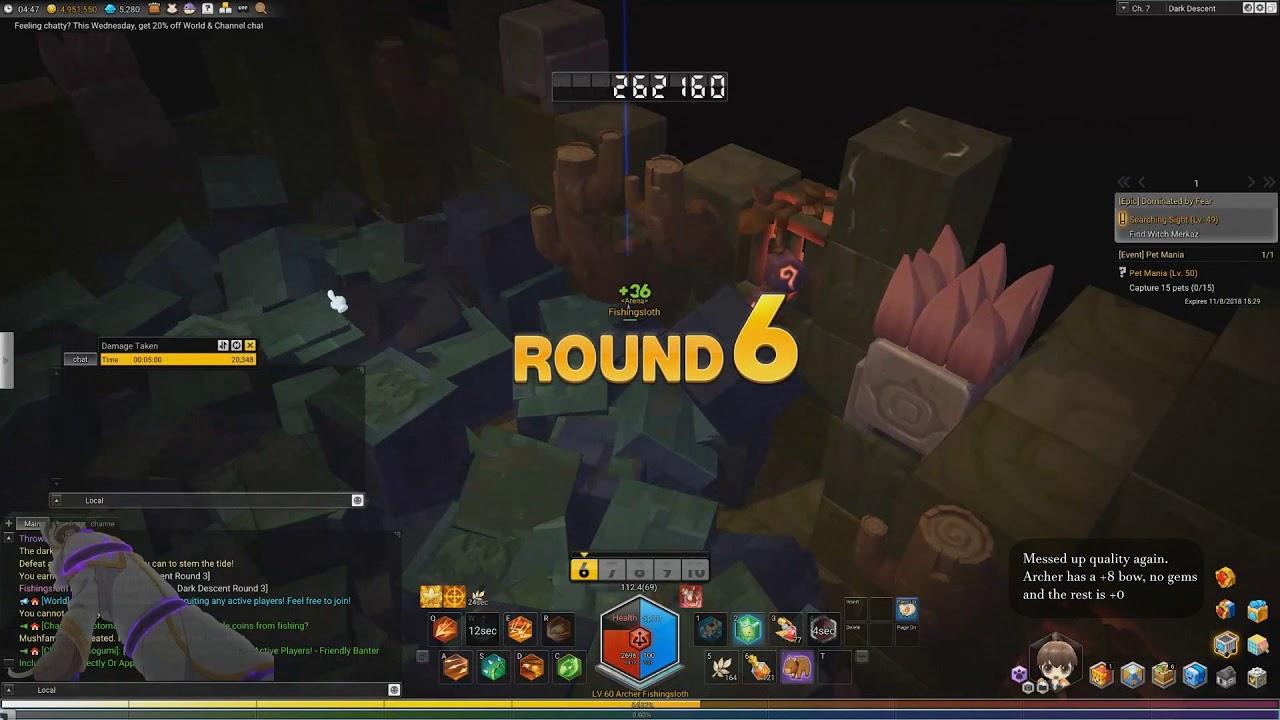 Maplestory 2: Archer PvE #1 - Dark Descent Floor 9 (501k points)