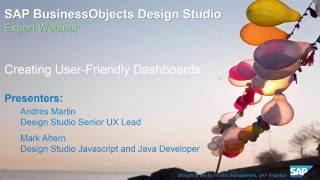 SAP BusinessObjects استوديو التصميم: إنشاء المستخدم ودية لوحات