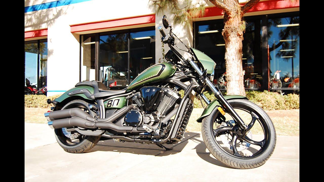 2015 Yamaha Stryker Bullet Cowl Green Youtube