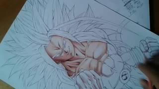 drawing goku ssj5  (skin tutorial)