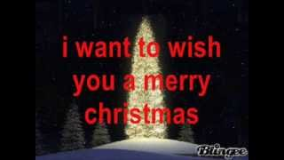 i want to wish you a merry christmas w/lyrics
