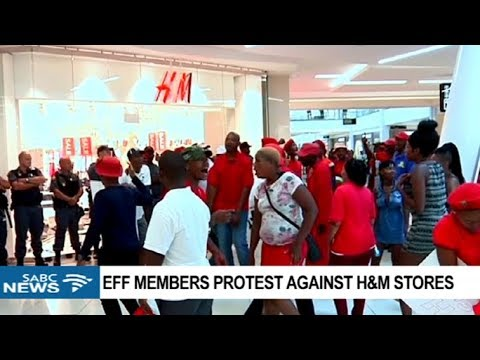 UPDATE: EFF protests against H&M stores