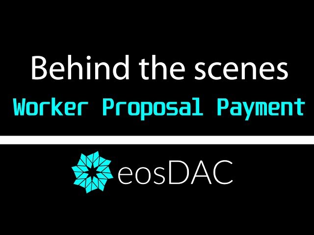 The First eosDAC Worker Proposal Multi-Signature Payment