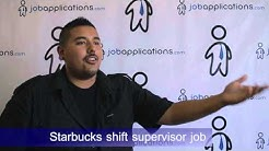 Starbucks Interview - Shift Supervisor