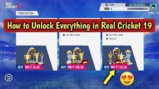 How to unlock everything in real cricket 2019
