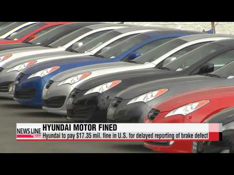 Hyundai fined in U.S. for delayed recall