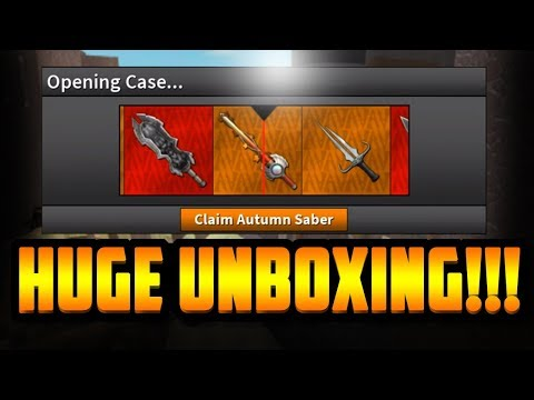 UNBOXING THE AUTUMN SABER!! *INSANE THANKSGIVING UNBOXING* (ROBLOX ASSASSIN)