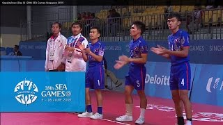 Sepaktakraw Mens Doubles LAO vs BRU (Day 9) | 28th SEA Games Singapore 2015
