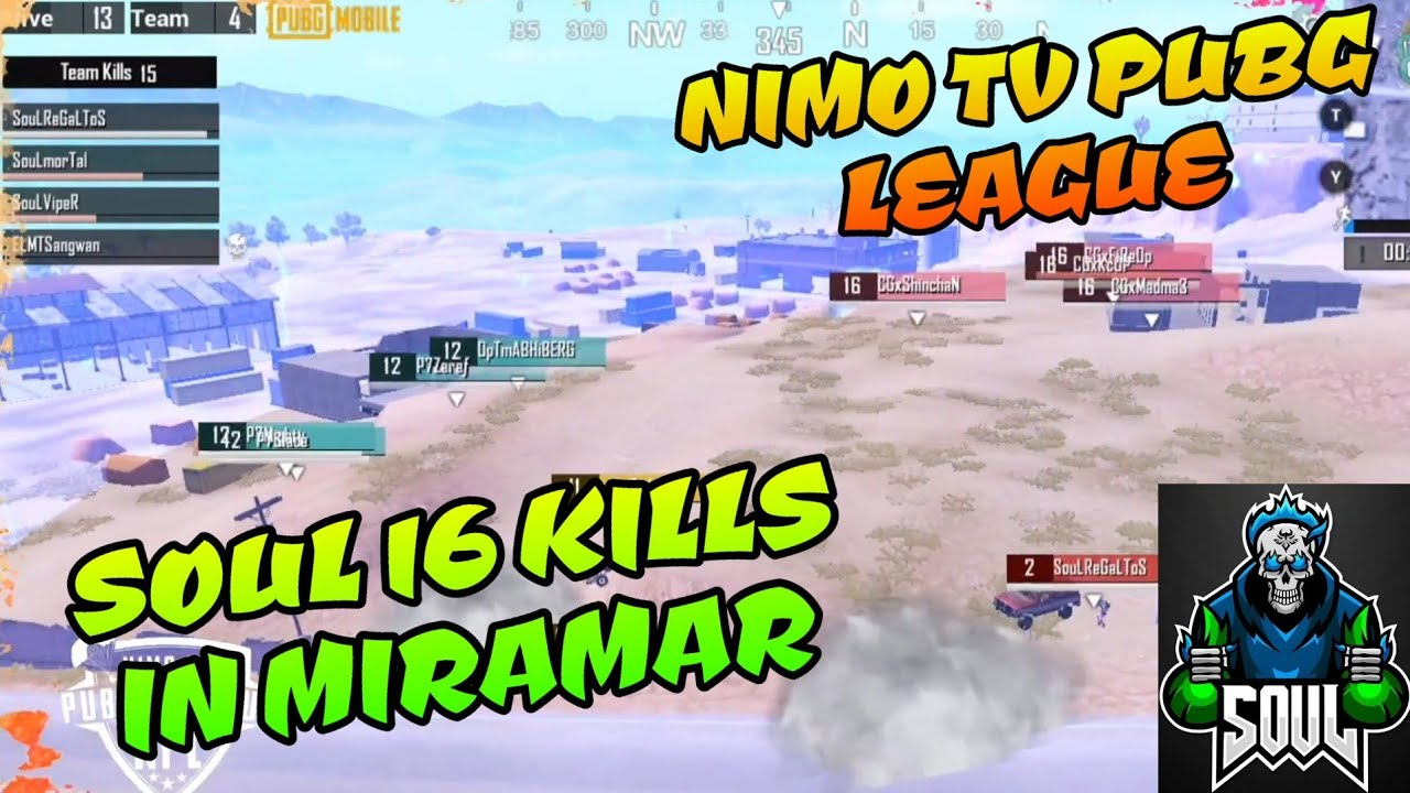 Soul 16 Kills Gameplay In Nimo Tv Pubg Mobile League Regaltos Viper in Action,live stream Highlights