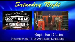 Cogic Holy Convocation 2014-saturday Night-supt. Earl Carter