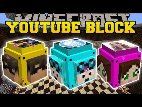 Minecraft: MINECRAFTER LUCKY BLOCK (DANTDM, SKYDOESMINECRAFT & CAPTAINSPARKLEZ!) Mod Showcase