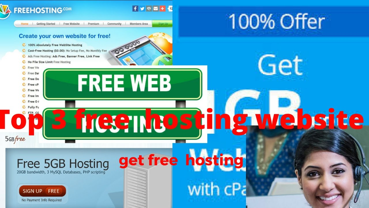 top 3 website to get free hosting from cpanel 100 free 2017