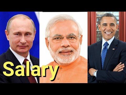 Official Salary of Top World Leaders | Modi | Obama | Putin | Merkel | Jinping