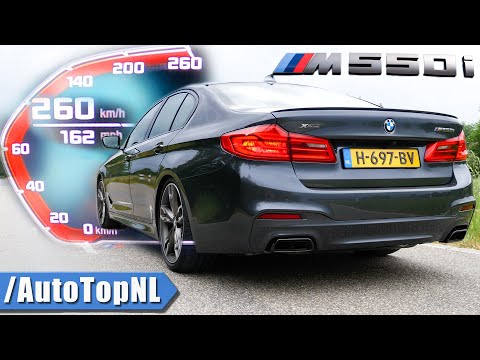 BMW M550i 530HP | 0-260KMH 0-162MPH ACCELERATION TOP SPEED & SOUND by AutoTopNL