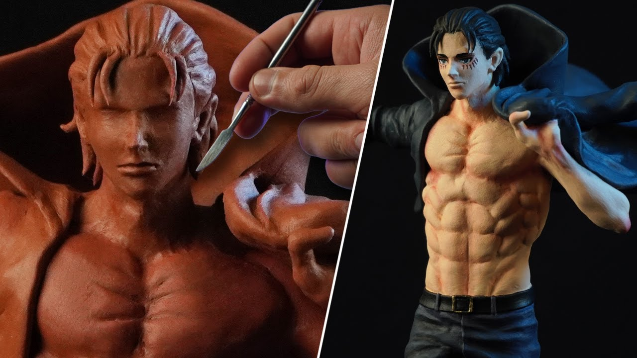 Sculpting EREN JAEGER | Attack On Titan [ Shingeki No Kyojin ] The Final Season | Full Video