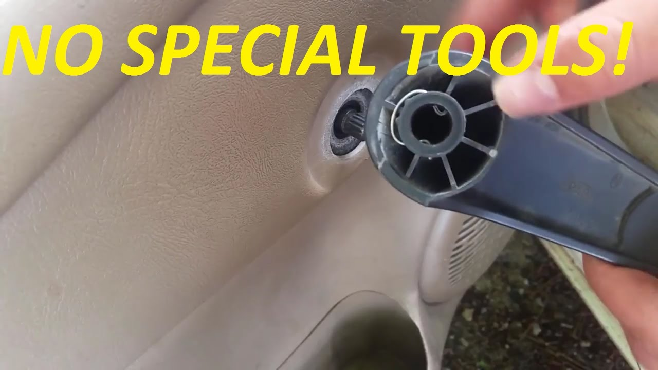 hight resolution of quick tip how to remove manual window crank with no special tools