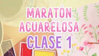 Maratón acuarelosa! CLASE 1    TUTORIAL acuarela para principiantes   Piyoasdf   #maratonacuarelosa