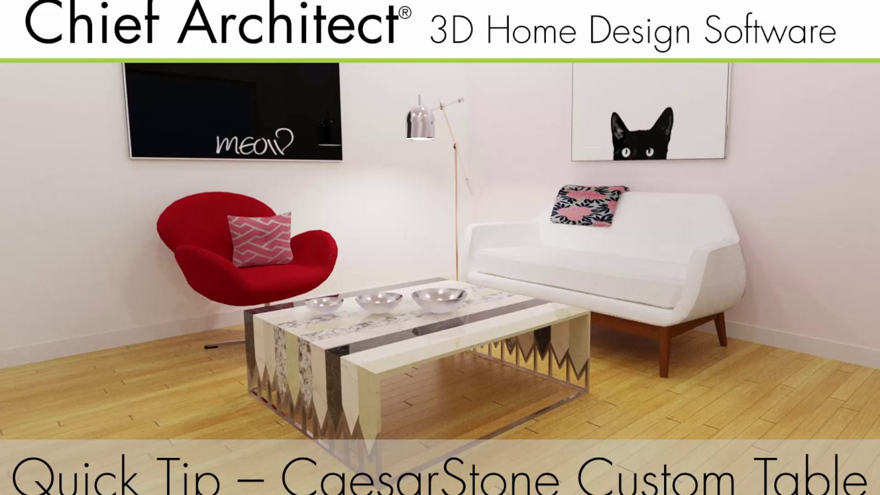 Caesarstone Custom Furniture Design With Chief Architect. Chief Architect  Software