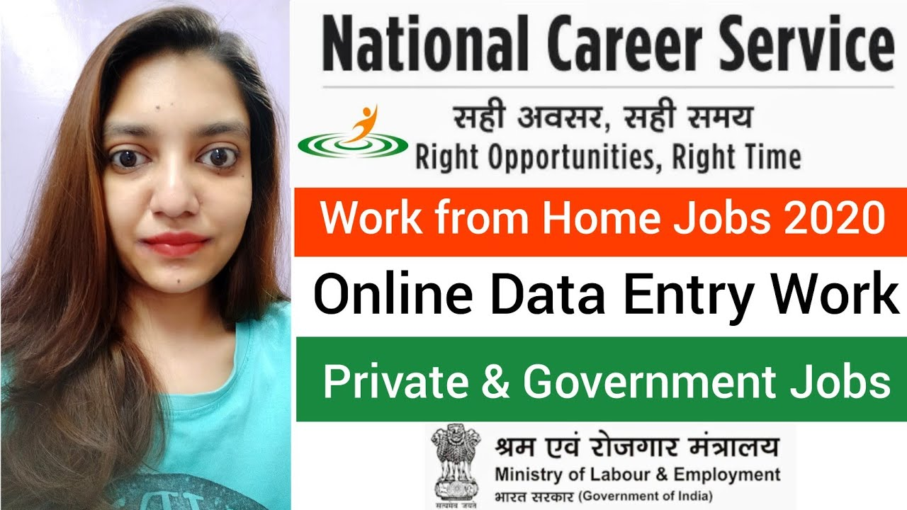 Data Entry Work 12   Work from Home Job   Online Data Entry Job    National Career Service