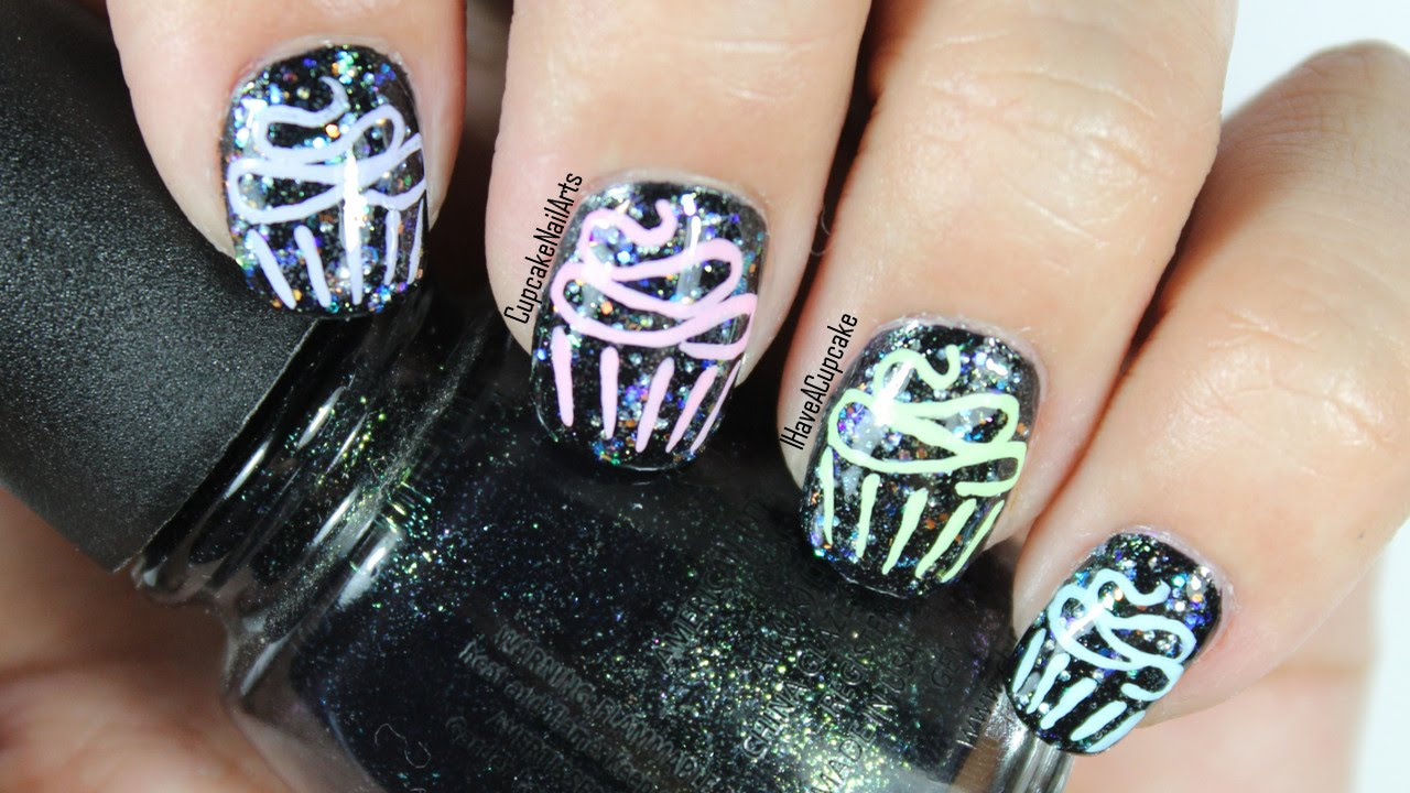 Cupcake Nail Art And Collab With Cookies Cupcakes And Cardio Youtube