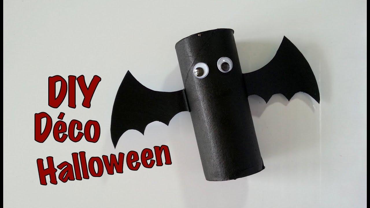 D co halloween chauve souris en carton youtube for Deco halloween chauve souris
