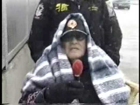 CHIEF WAHOO PROTEST ON BASEBALL OPENING DAY 2007 PART 1 OF 3
