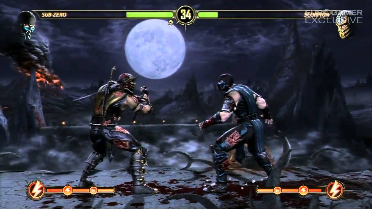 Mortal Kombat 9 Sub Zero Vs Scorpion Gameplay True Hd Quality