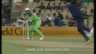 Javed Miandad vs Srinath 1992 World Cup Cricket