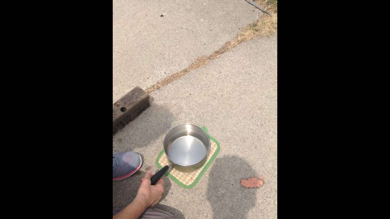 How To Get Off Melted Crayon On Cement Pt 1 Youtube