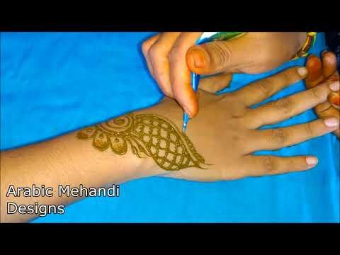 Simple Arabic Mehandi Bridal Mehndi Designs For Hands Full Back